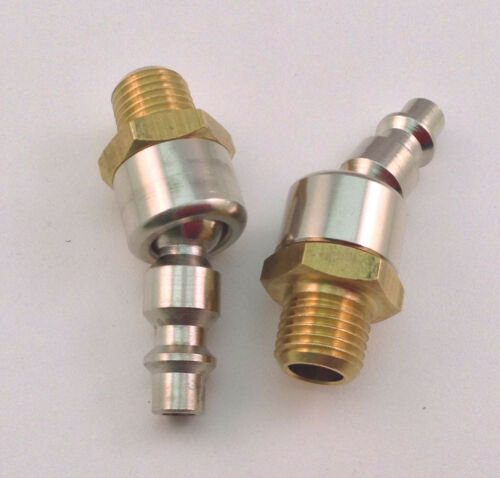 2pc 1//4 Male Swivel Plug Air Compressor Style M Quick Attach Ball Connector