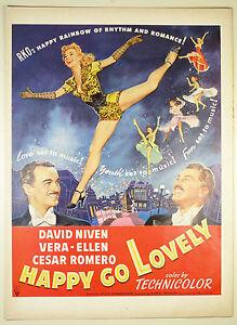 Original Print Ad 1951 Movie Happy Go Lovely David Niven Technicolor Romero 1940-49