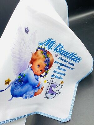 12 BAUTIZO RECUERDOS Niño FAVORS SERVILLETAS BAPTISM NAPKINS TABLE DECORATIONS