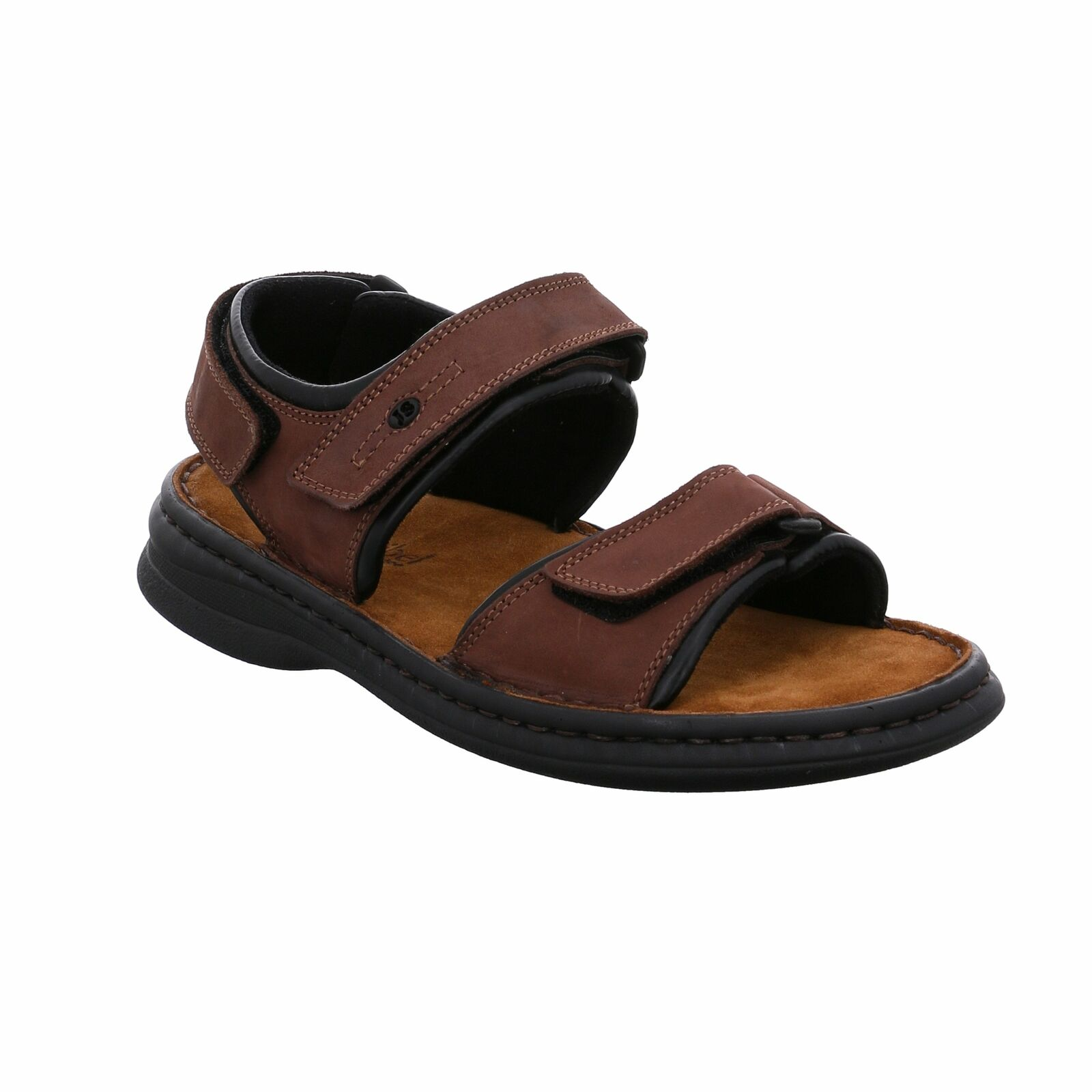 Josef Seibel Rafe 11 marrón Leather Mens Open-toe Walking Sandals