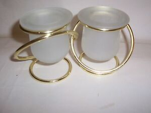 Partylite Silver Gemini holder for tealight or votive candle