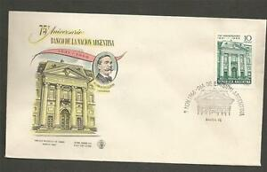 ARGENTINA-1966-The-75th-Anniversary-of-the-Argentine-National-Bank-FD-COVER