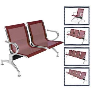 Sedie Per Sala D Attesa.Dettagli Su Panca Panche Sedie Sala D Attesa In Acciaio Ospite Riunione Ufficio Poltrone