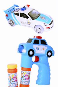 Polizei Set Seifenblasen-Pistole + Polizeiauto Car Auto Selbstfahrend Police LED