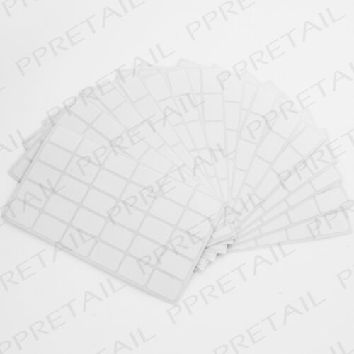 5000x WHITE 19x12mm SELF ADHESIVE LABELS Small Rectangle Sticky Labelling Tabs