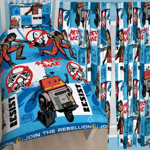 """Star wars rebels tag simple rotary couette et assorti rideaux set 54/"""" 72/"""" goutte"""