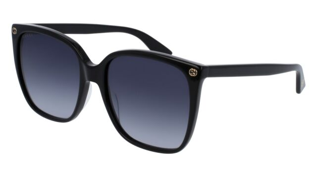 50766b5376f Gucci Sunglasses Women GG 0022 Black 001 Gg0022s 57mm for sale ...