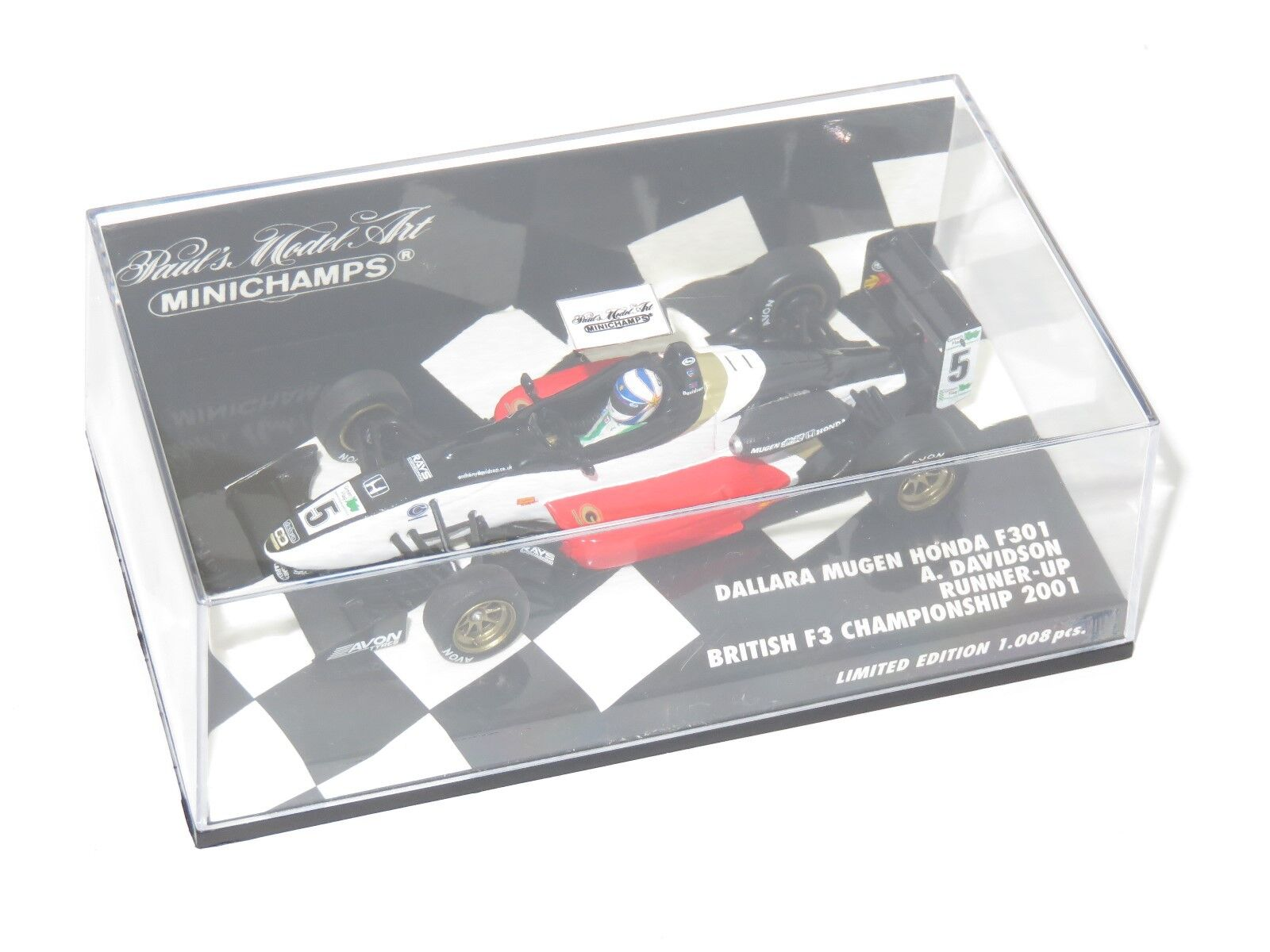 1 43 Dallara Mugen Honda F301 British F3 CHAMPIONNAT DE 2001 A. Davidson