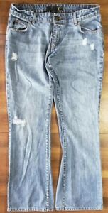 outlet store 398b0 ad261 Details about Just Cavalli Womens Boot Cut Distressed Denim Jeans Ittierre  30 44 Italia