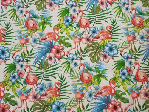 Sustancias algodón panamabindung impresión digital decorativas patchwork Gardine Flamingo nº 1