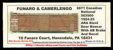 Funaro F&C 6671  CANADIAN NATIONAL Railway  CN 1924-25 ARA BOXCAR  Wood Side Kit