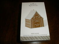 Adorable Hallmark Christmas Ornament new Home Gingerbread House 2014-t6207