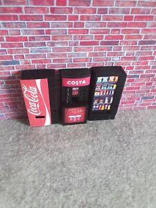 1:18 scale VENDING MACHINE SET OF 3 for garage diorama