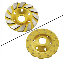 Ocr 4 Concrete Turbo Diamond Grinding Cup Wheel Three Row Turbo Cup Disc For 12