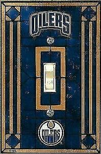 Edmonton Oilers Art Glass Switch Plate Cover (New) Calgary Alberta Preview