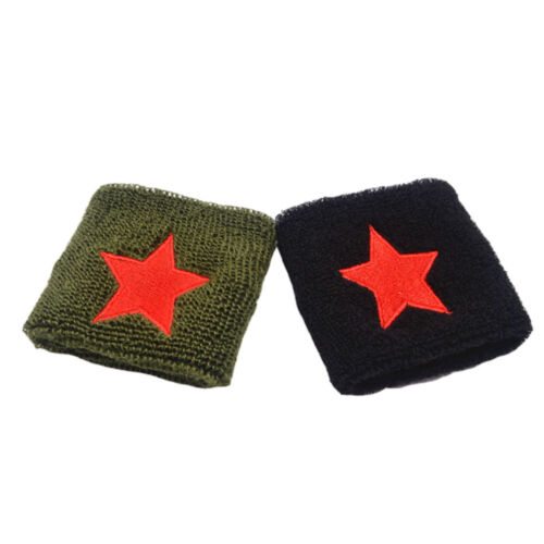 Cotton New Strap Basketball Sport Guards Red Star Gym Wristband Wrist Wrap