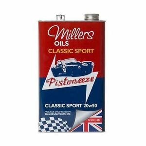 Millers-Classic-Sport-20W50-20W-50-Semi-Synthetic-Engine-Oil-5-Litres-5l