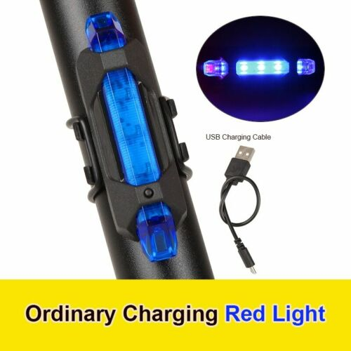 USB Rechargeable 5 LED tail light for Bike safety Rear lamp Bicycle waterproof