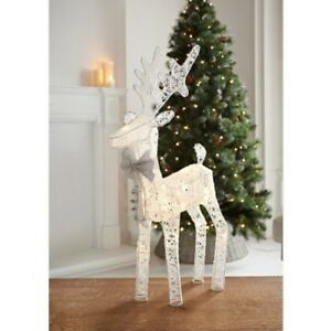 image is loading christmas indoor decor light up reindeer 20 led - White Deer Christmas Decoration