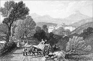 Puy-de-dÔme: Environs De Royat - Gravure 19e 1838 (cuvette D'impression Visible)