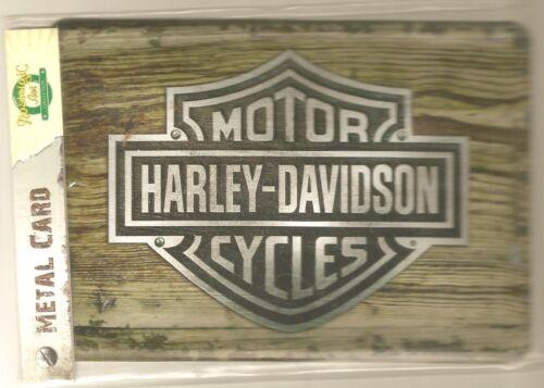 HARLEY DAVIDSON Carte Postale Métal NEUVE Prête à Poster BAR /& SHIELD