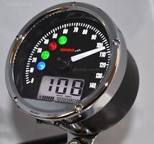 KOSO TNT01s Digital Speedometer Speedo, Fuel, Volt, Clock Warning Lights, 86mm