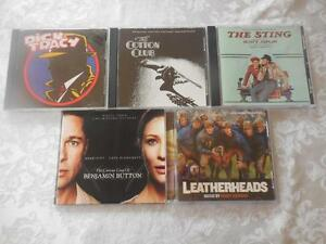 5-CDs-Soundtracks-All-Like-New-The-Sting-Leatherheads-Dick-Tracy-Cotton-Club