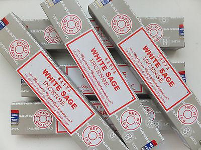 12 x 15 Gramm Satya white Sage - Nag Champa - incense sticks Räucherstäbchen