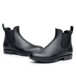 Women-Man-Neutral-Short-Rain-Boots-Waterproof-Slip-On-Ankel-Chelsea-Booties-GEN