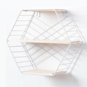 Wall-Storage-Unit-Retro-Floating-Shelves-Display-Shelf-Metal-Wire-Rack-W8H