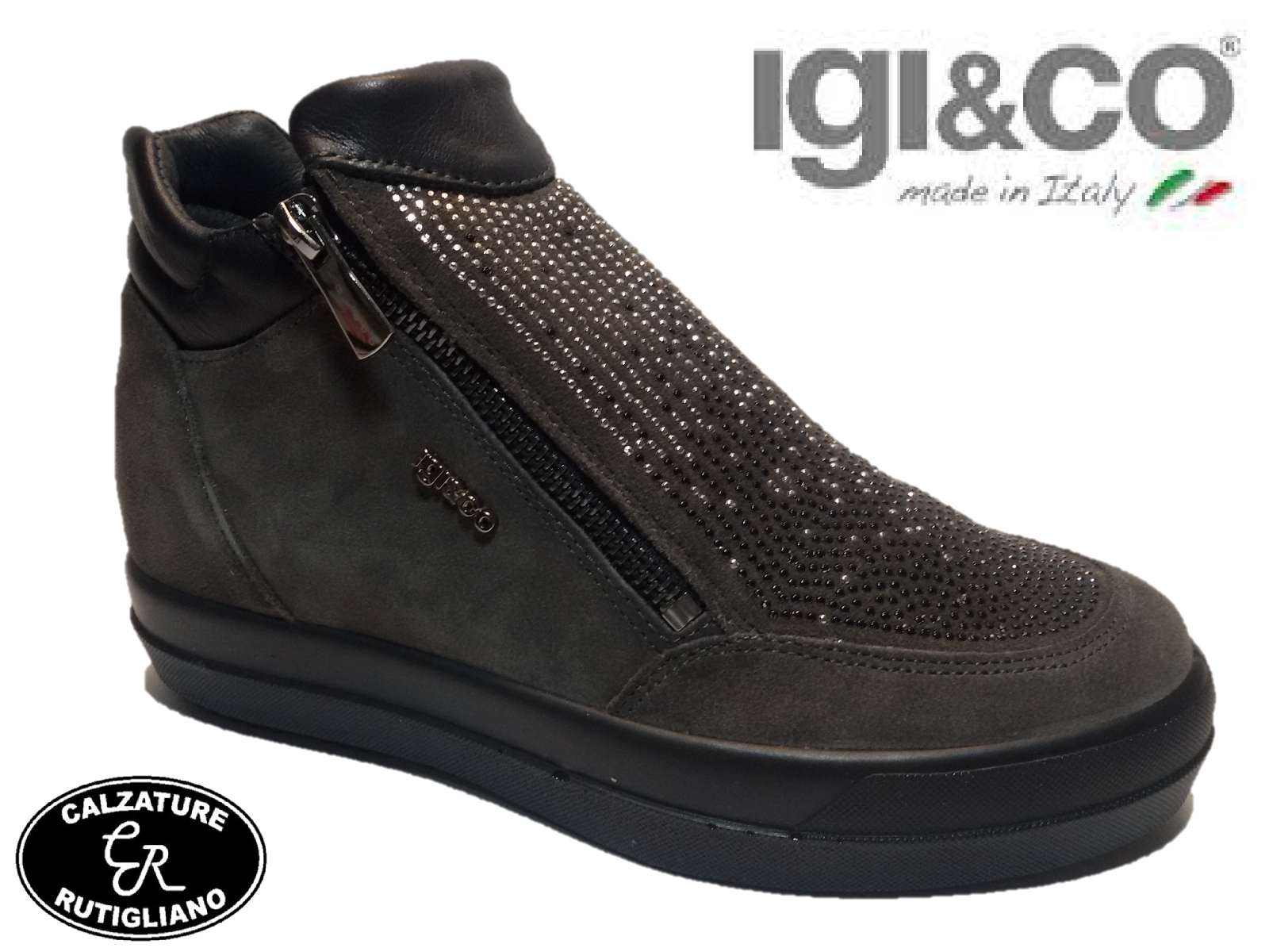 IGI&CO IGI&CO IGI&CO zapatos mujer zapatilla de deporte CON ZEPPA INTERNA PELLE CAMOSCIO gris  - 87759 59956e