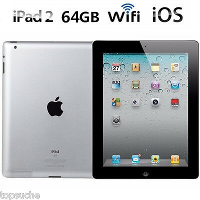 "64GB 9.7"" Apple iPad 2 PC Tableta IOS Tablet Bluetooth WIFI Versión Negro"