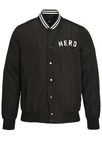 Veste Hommes Noir Hero's Heroine Aviateur 11dwqS