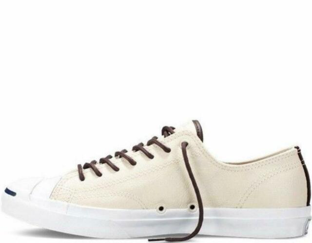 90a18a50119 NIB  90 Converse Jack Purcell Ox Tumbled Leather Parchment 149931C US  Mens11.5