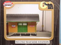 N Scale Wayside Station - Lighted Built-up Ready To Use Model Power 2562