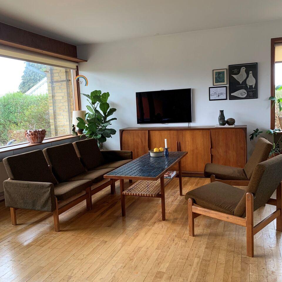 Sofagruppe, træ, 3 pers.
