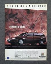 G750 - Advertising Pubblicità - 1988 - PEUGEOT 405 STATION WAGON