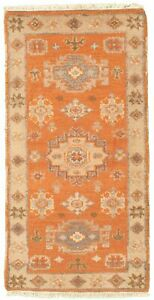 Hand-knotted-Carpet-2-039-1-034-x-4-039-0-034-Royal-Kazak-Copper-Wool-Rug