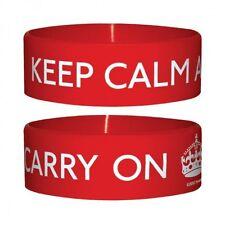 Gummi Armband KEEP CALM AND CARRY ON  ca65 x 24mm NEU Wristband