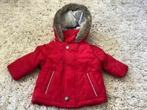 b1a2f6ff8 JASPER CONRAN BABY BOYS RED FAUX FUR HOOD COAT 0-3 MONTHS NEW - TAG ...