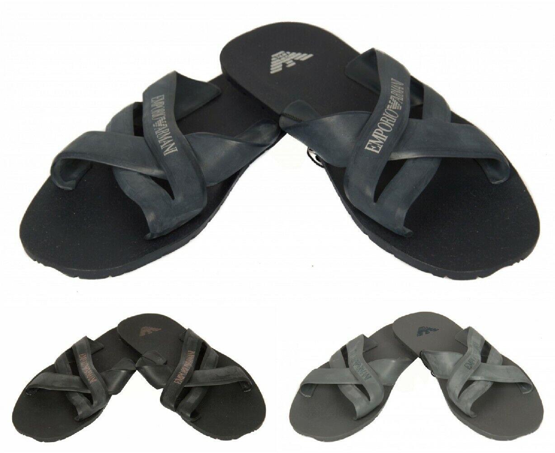 Men's slippers man plastic shoes beachwear EMPORIO ARMANI item 211516 5P488 SLIP