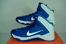 "New Mens 18 NIKE ""HyperQuickness TB"" Blue White High Top Basketball Shoes $105"