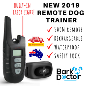 BARK DOCTOR PS2 REMOTE 500M DOG TRAINING COLLAR LASER LIGHT 100% rechargeable