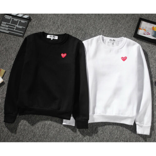 New Men/'s Comme Des Garcons CDG Play Hoodie red heart Sweater Play Women Coat**