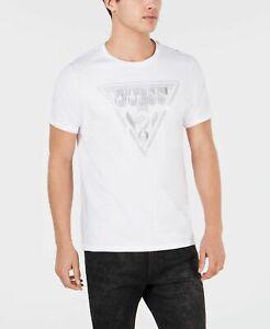 95-Guess-Men-039-S-White-Logo-Graphic-Crew-Neck-Cotton-Short-Sleeve-T-Shirt-M