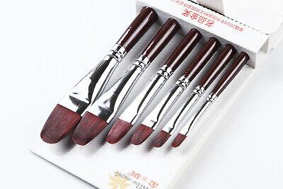 Filbert Kolinsky Bristle Hog Hair Artist Paint Brushes Art Brushes Oil Painting