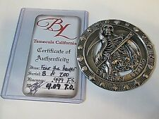 4.09 troy ounce FEAR THE REAPER Hand Cast Silver Collectable with COA