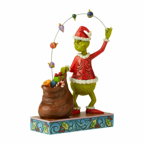 Jim Shore GRINCH JUGGLING GIFTS INTO BAG Figurine 6006568 NEW 2020 Santa Grinch