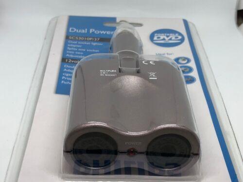 Philips Dual Power 12 Volt car socket lighter adapter SCS3010P//37 12Volt//10A