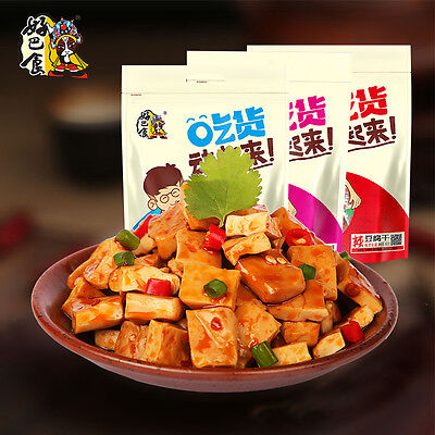 Chinese Food Snacks HaoBaShi Tofu Bean Curd DouGan 375g*1bags 好巴食  麻辣江湖豆干 豆腐干超辣味